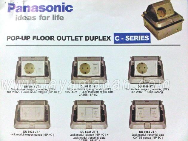 Lini Produk Stop Kontak Lantai Panasonic
